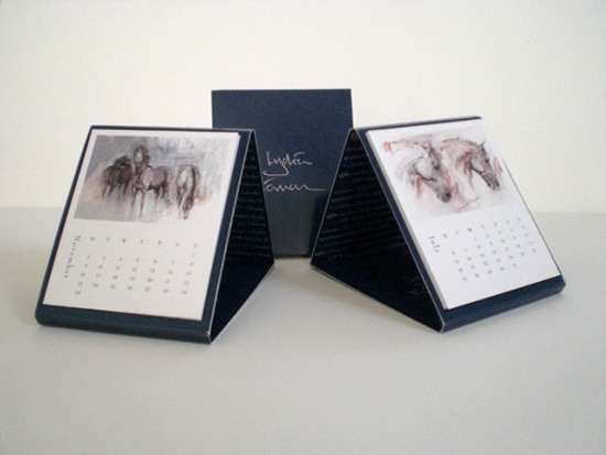 Contemporary Art Calendar Uk : Contemporary equestrian art calendar horse desk