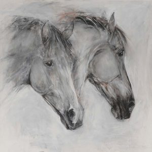 Heads On Canvas (Grey)