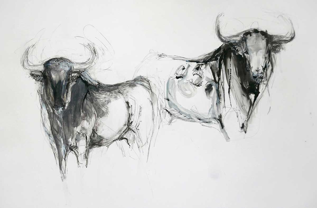2 Bulls with Ink no 1