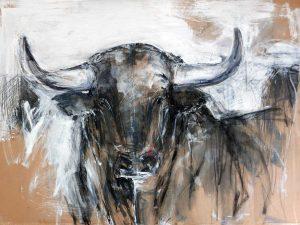 Bull Looking Forward