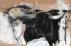 Bulls on Hardboard Series – no 2