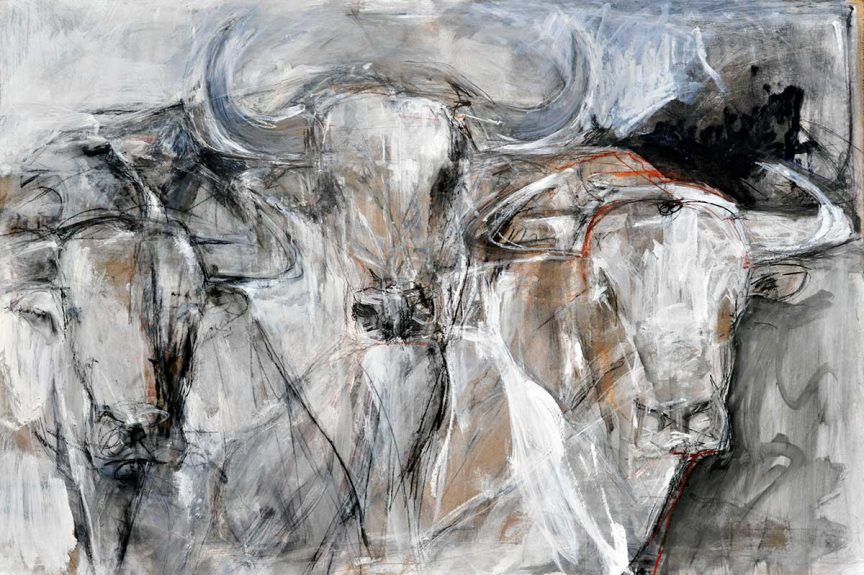 Bulls on Hardboard Series – no 3