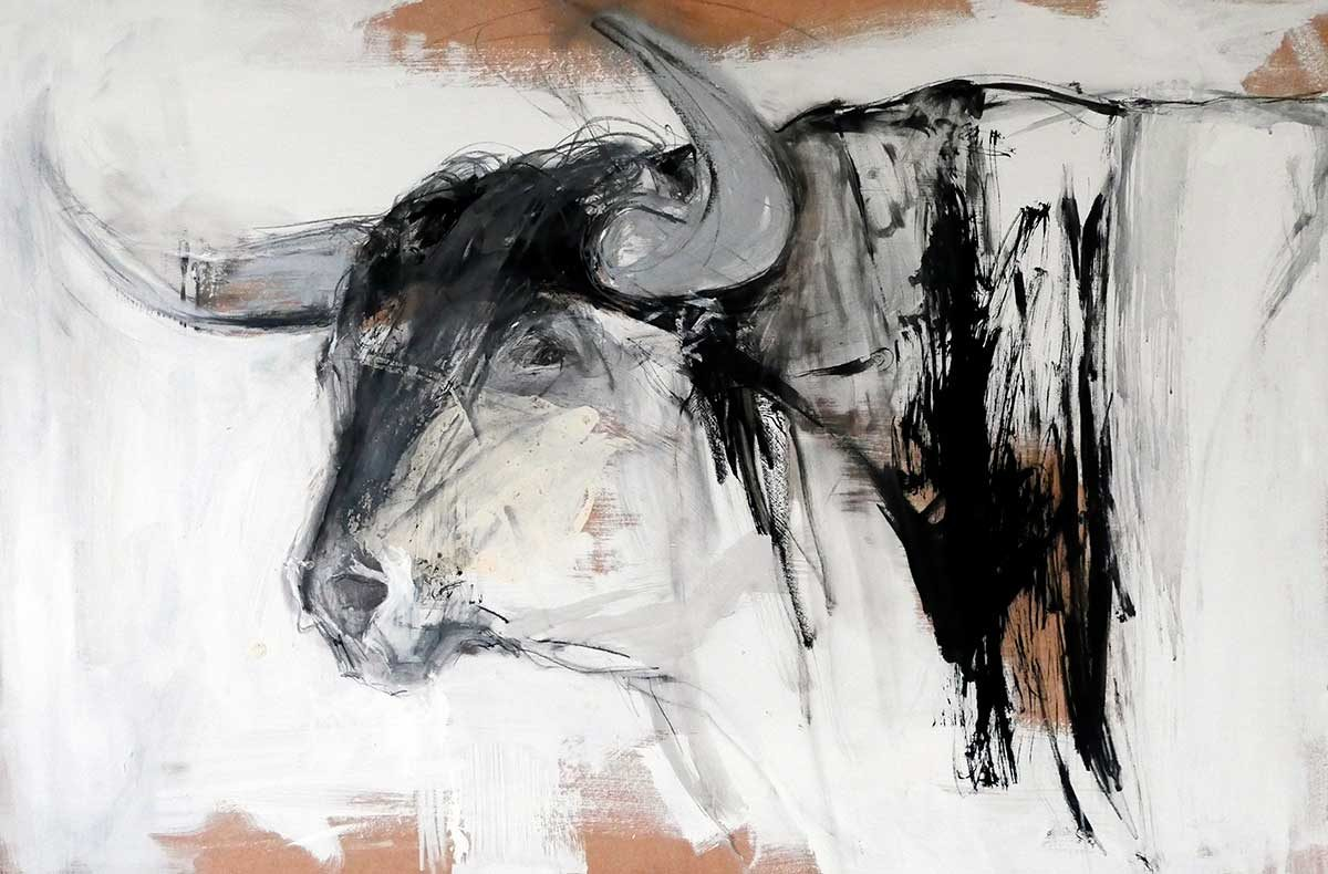 Bulls on Hardboard Series – no 4