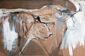 Bulls on Hardboard Series – no 5