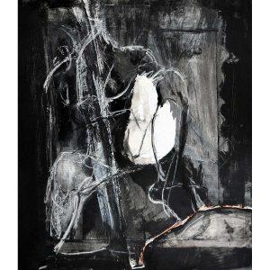 Figure on Black Ground
