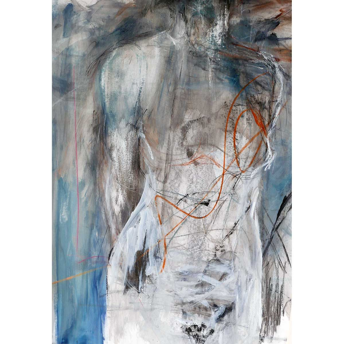 Figure with Orange Lines