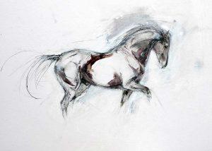 Sepia Ink Drawing