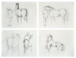 Set of 4 Small Sketches