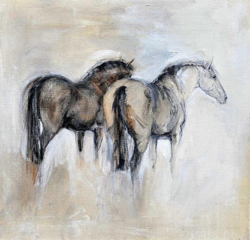Small Canvas 2 Horses