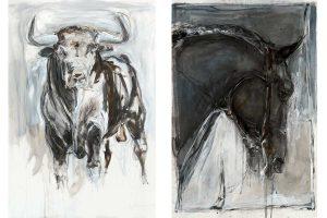 Bull and Horse art