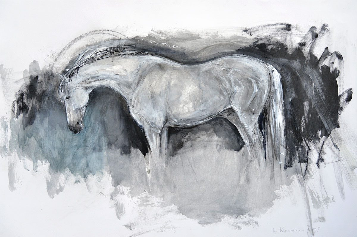 White Horse on Dark Ground