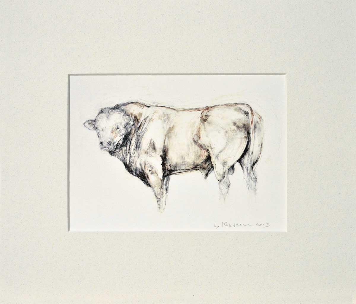 English Bull mounted print